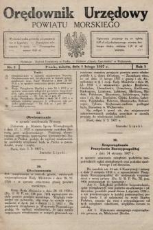 Orędownik Urzędowy Powiatu Morskiego. 1927, nr5
