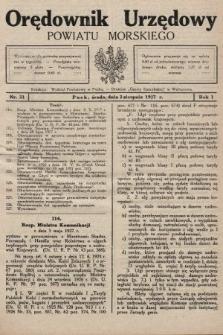 Orędownik Urzędowy Powiatu Morskiego. 1927, nr31