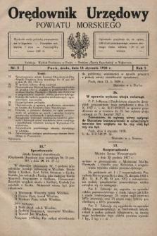 Orędownik Urzędowy Powiatu Morskiego. 1928, nr3