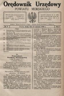 Orędownik Urzędowy Powiatu Morskiego. 1928, nr4