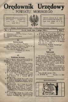Orędownik Urzędowy Powiatu Morskiego. 1928, nr5