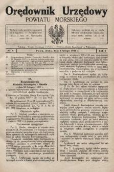 Orędownik Urzędowy Powiatu Morskiego. 1928, nr6