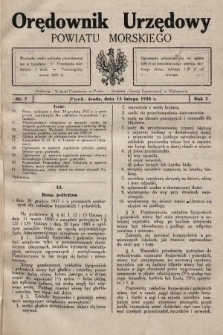 Orędownik Urzędowy Powiatu Morskiego. 1928, nr7