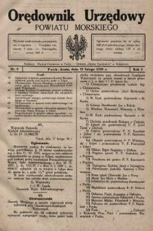 Orędownik Urzędowy Powiatu Morskiego. 1928, nr8