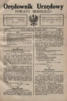 Orędownik Urzędowy Powiatu Morskiego. 1928, nr9