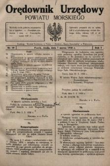 Orędownik Urzędowy Powiatu Morskiego. 1928, nr10