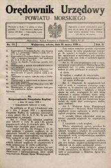 Orędownik Urzędowy Powiatu Morskiego. 1928, nr13