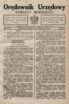 Orędownik Urzędowy Powiatu Morskiego. 1928, nr15
