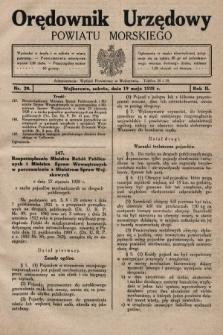 Orędownik Urzędowy Powiatu Morskiego. 1928, nr20