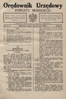 Orędownik Urzędowy Powiatu Morskiego. 1928, nr21