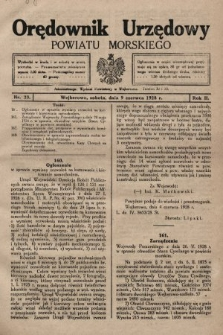 Orędownik Urzędowy Powiatu Morskiego. 1928, nr23