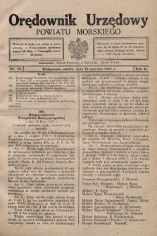 Orędownik Urzędowy Powiatu Morskiego. 1928, nr24