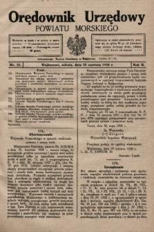 Orędownik Urzędowy Powiatu Morskiego. 1928, nr25