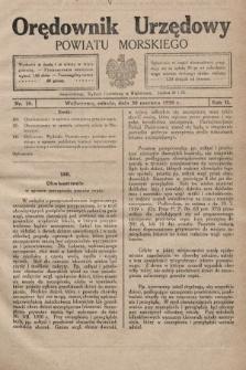 Orędownik Urzędowy Powiatu Morskiego. 1928, nr26