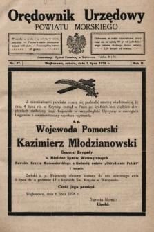 Orędownik Urzędowy Powiatu Morskiego. 1928, nr27