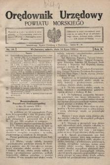 Orędownik Urzędowy Powiatu Morskiego. 1928, nr28