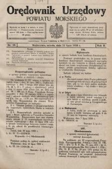Orędownik Urzędowy Powiatu Morskiego. 1928, nr29