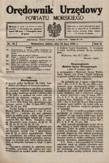 Orędownik Urzędowy Powiatu Morskiego. 1928, nr30