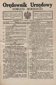 Orędownik Urzędowy Powiatu Morskiego. 1928, nr31