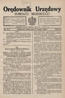 Orędownik Urzędowy Powiatu Morskiego. 1928, nr33