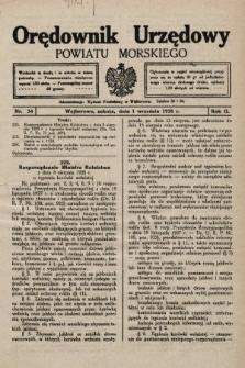 Orędownik Urzędowy Powiatu Morskiego. 1928, nr34