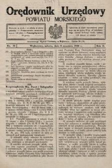 Orędownik Urzędowy Powiatu Morskiego. 1928, nr35