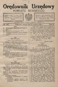 Orędownik Urzędowy Powiatu Morskiego. 1928, nr36