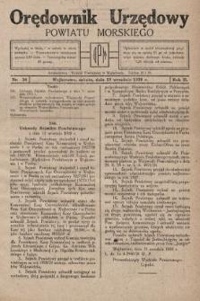 Orędownik Urzędowy Powiatu Morskiego. 1928, nr38