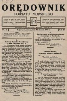 Orędownik Powiatu Morskiego. 1929, nr2