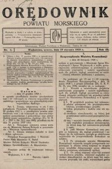 Orędownik Powiatu Morskiego. 1929, nr3