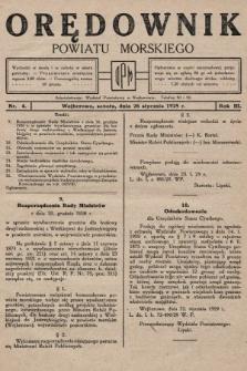 Orędownik Powiatu Morskiego. 1929, nr4