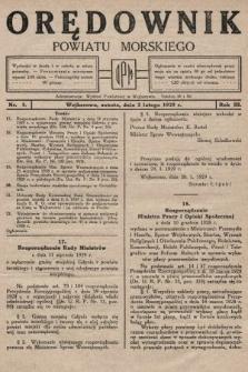 Orędownik Powiatu Morskiego. 1929, nr5