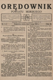 Orędownik Powiatu Morskiego. 1929, nr6