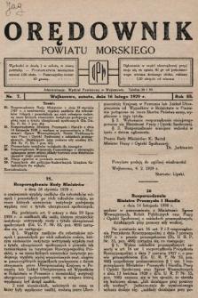 Orędownik Powiatu Morskiego. 1929, nr7