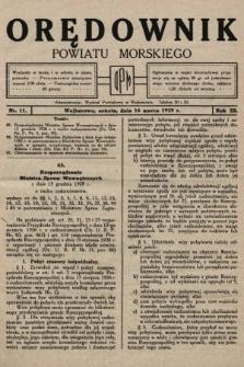 Orędownik Powiatu Morskiego. 1929, nr11