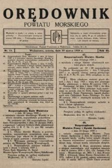 Orędownik Powiatu Morskiego. 1929, nr12