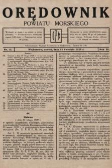 Orędownik Powiatu Morskiego. 1929, nr15