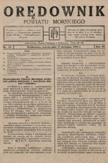 Orędownik Powiatu Morskiego. 1929, nr17