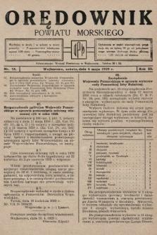 Orędownik Powiatu Morskiego. 1929, nr18
