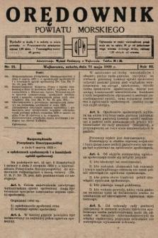 Orędownik Powiatu Morskiego. 1929, nr21