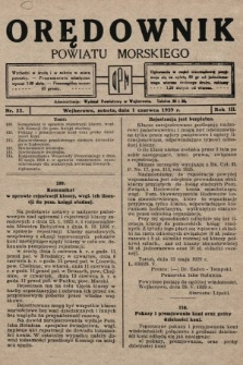 Orędownik Powiatu Morskiego. 1929, nr22