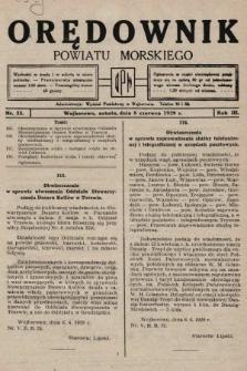 Orędownik Powiatu Morskiego. 1929, nr23