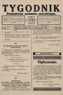 Tygodnik Powiatowy Powiatu Morskiego. 1929, nr40