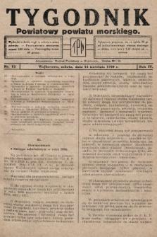 Tygodnik Powiatowy Powiatu Morskiego. 1930, nr13