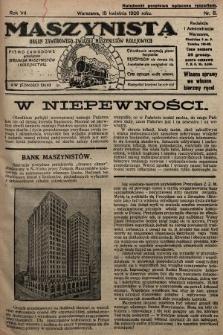 Maszynista : organ Zawodowego Związku Maszynistów Kolejowych : pismo zawodowe poświęcone sprawom maszynistów i kolejnictwu. 1926, nr8