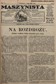 Maszynista : organ Zawodowego Związku Maszynistów Kolejowych : pismo zawodowe poświęcone sprawom maszynistów i kolejnictwu. 1926, nr9