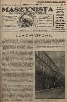 Maszynista : organ Zawodowego Związku Maszynistów Kolejowych : pismo zawodowe poświęcone sprawom maszynistów i kolejnictwu. 1926, nr10