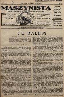 Maszynista : organ Zawodowego Związku Maszynistów Kolejowych : pismo zawodowe poświęcone sprawom maszynistów i kolejnictwu. 1926, nr11