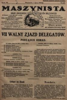 Maszynista : organ Zawodowego Związku Maszynistów Kolejowych : pismo zawodowe poświęcone sprawom maszynistów i kolejnictwu. 1926, nr13