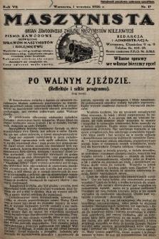 Maszynista : organ Zawodowego Związku Maszynistów Kolejowych : pismo zawodowe poświęcone sprawom maszynistów i kolejnictwu. 1926, nr17